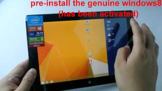 CUBE iwork10 WIN8 Edition Unboxing video