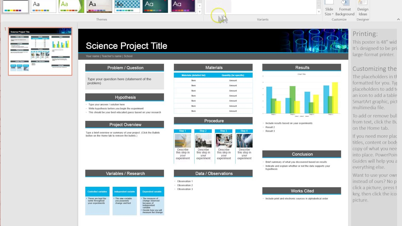 Poster ppt template designs
