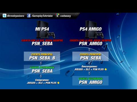 TUTORIAL PS4 - Compartir Juegos, DLC y PSN Plus entre dos PS4