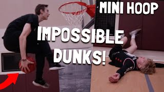 Trying IMPOSSIBLE Dunks On 7.5 Foot Rim!