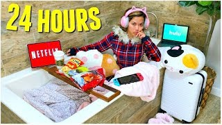 24 HOUR OVERNIGHT BATHROOM CHALLENGE!