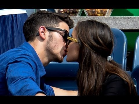 Nick Jonas Kisses Olivia Culpo on Joe Jonas Double Date!