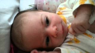 Daddy makes baby cry