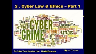 HSC IT Ch  2  Cyber Law and Ethics Part 1