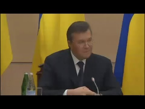 Viktor Yanukovych: press conference
