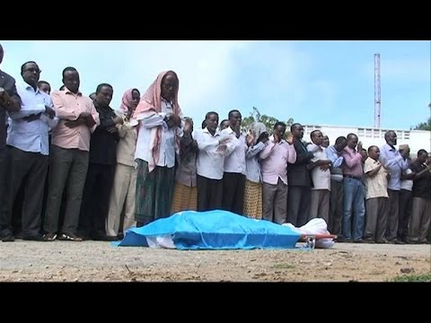 Funeral held for murdered Somali MP