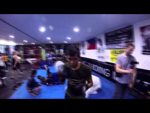 Muay Thai training at the Fight Factory in Manila