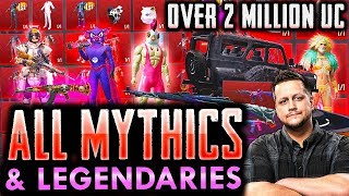 ALL MYTHIC AND LEGENDARY SKINS IN POWERBANG'S INVENTORY