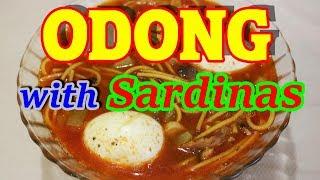 How to cook Odong with Sardinas