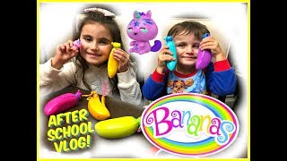 After School Vlog! Going BANANAS! NEW Toy CRUSHIES! Homework & Dinner!