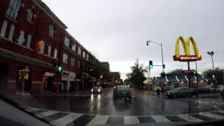 Driver Crashes into DC Subway Sandwich Store then tries to run (Dashcam)