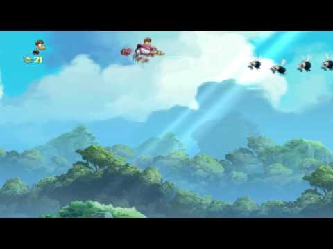 Rayman Origins Blind Playthrough Part 3 - Jibberish Jungle 3/3
