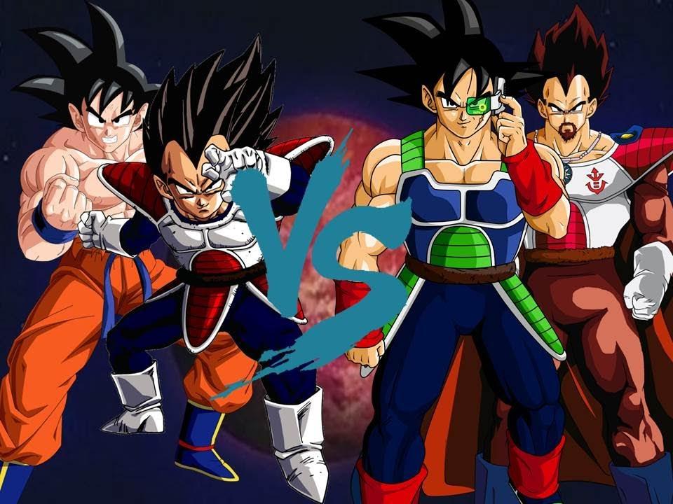 Vegeta vs King Vegeta Vegeta y Goku vs King Vegeta y