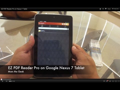 Ez Pdf Reader Pro On Nexus 7 Tablet video