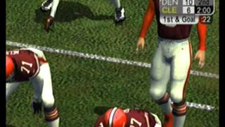NFL 2k5 Cleveland browns vs Denver Broncos AFC divisional playoff game (Full 60 minute game)