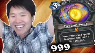 Dragon Soul Can ATTACK?!   Miracle Priest   THE WITCHWOOD   HEARTHSTONE   DISGUISED TOAST