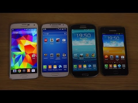 Samsung Galaxy S5 vs. Galaxy S4 vs. Galaxy S3 vs. Galaxy S2 - Which Is Faster?