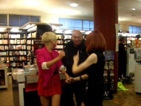 girls aloud eyelashes. Girls Aloud Book Signing Entrance