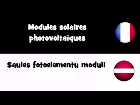 Dites le en 20 langues # Modules solaires photovoltaïques