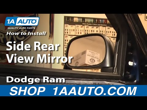 How To Install Repair Replace Side Rear View Mirror Dodge Ram 02-08 1AAuto.com