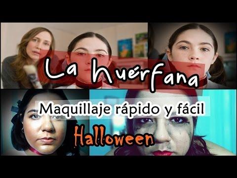 HALLOWEEN Maquillaje rápido y sencillo de La Huérfana | Mente de Mujer por Carolina HD