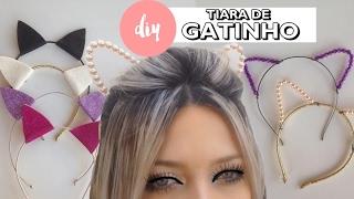 DIY: Tiara de gatinho com E.V.A e pérolas