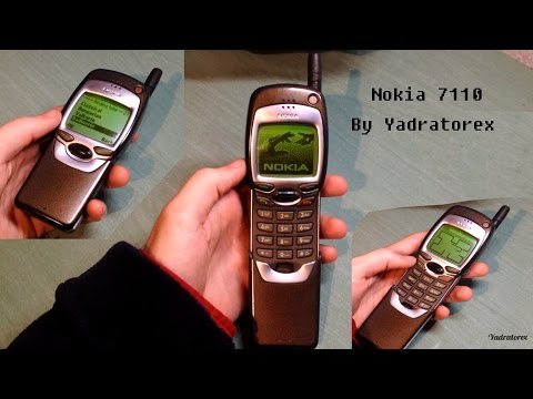 Nokia 7110 retro review (old ringtones & games [snake]). Vintage brick phone from 1999
