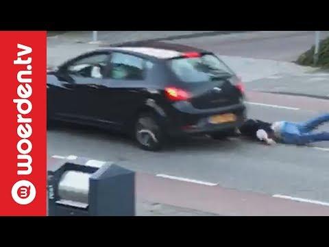 Drugsdealer meegesleurd met auto | Woerden.TV