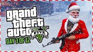 GTA 5 Funny Moments - SANTA HUNT!!! (Day 3 of 12) (GTA 5 Christmas Special)