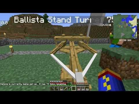 Minecraft 1.6.4 Ancient Warfare Mod Episode 14 - Chunk Loaders & Catapults
