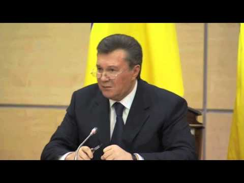Viktor Yanukovych gives Speech on Russian Military in Ukraine