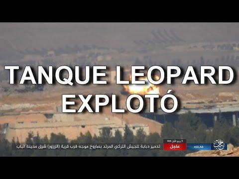 REBELDES DESTRUYEN TANQUE LEOPARD 2 TURCO (FOTOS)