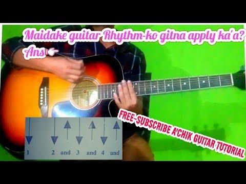 Maidake guitar Rhythm-ko gitna apply ka'a