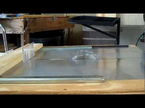 Home Made Table Saw using drawer slide brackets for small projects by Izzy.MOV