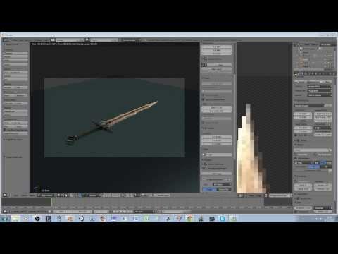 Blender Modeling - Realistic Sword (Skyrim) Mesh and Textures