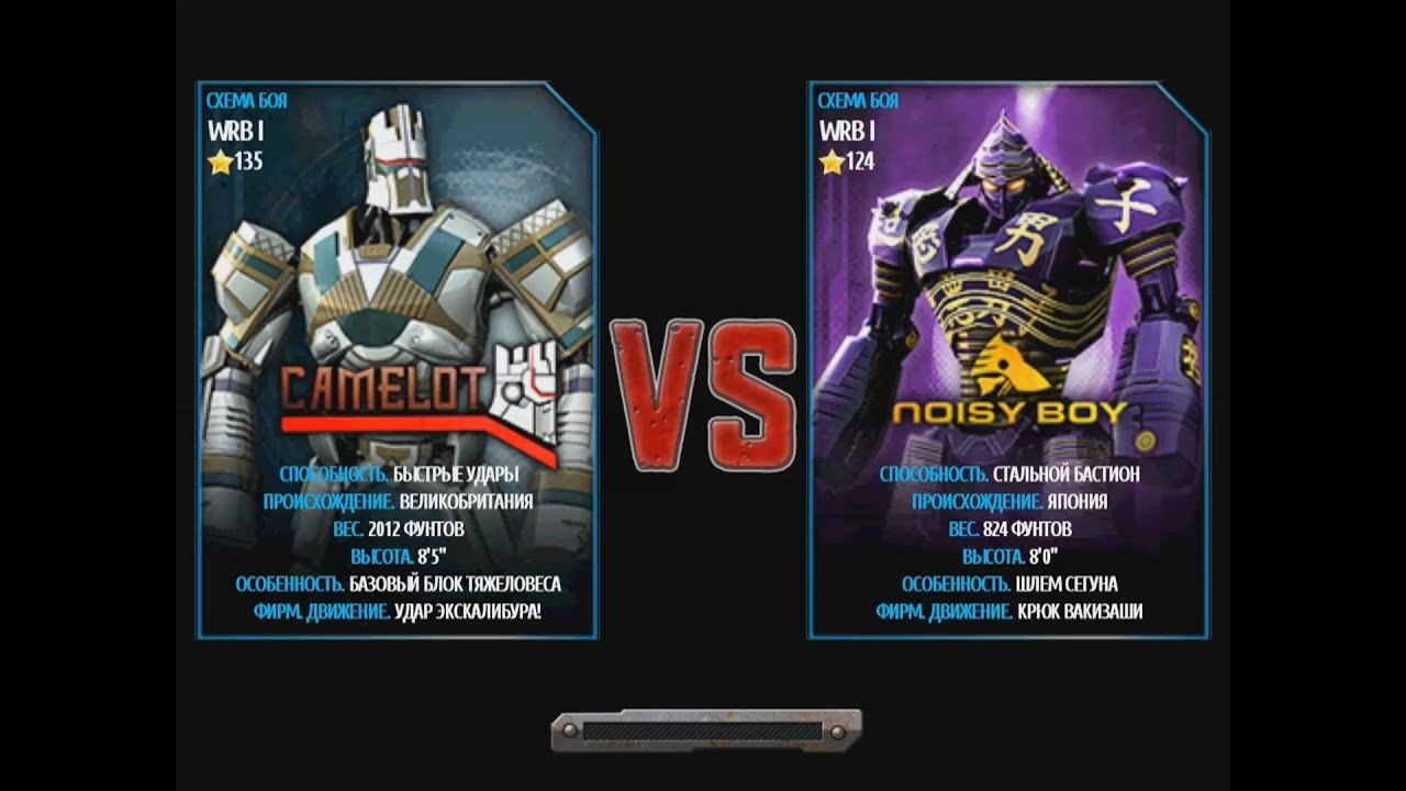 Real Steel Wrb Albino Real Steel Wrb Camelot vs