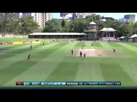 Queensland secured a seven-wicket win over Tasmania in an extraordinary record-breaking Matador Cup contest at North Sydney Oval.