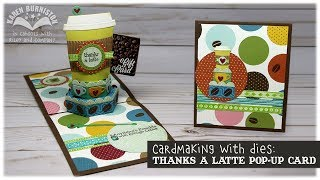 Ouça Cardmaking with Dies: Thanks a Latte Pop-up Card