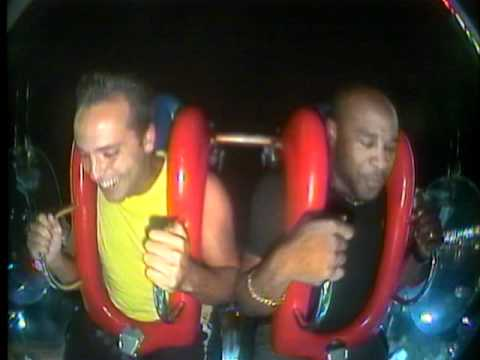 Watch soccer player scream in terror on human slingshot ride