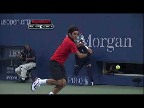 [Roger Federer] - Slow Mo Backhand [HD]