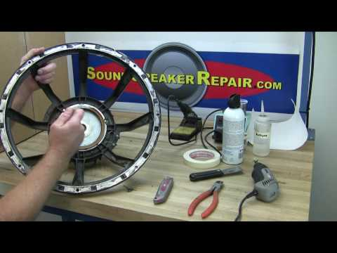 How to recone and repair a speaker or woofer with a Pro Parts recone ...