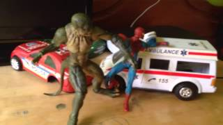 Spiderman vs Lizard stop motion ( Spiderman vs Lagarto )