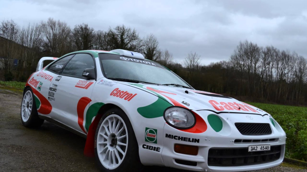 Livery adhesive Toyota Celica GT FOUR ST205 -TTE- 96' - YouTube