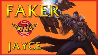 SKT T1 Faker - Jayce Mid vs Ahri - Korean Challenger Ranked League of Legends 2014