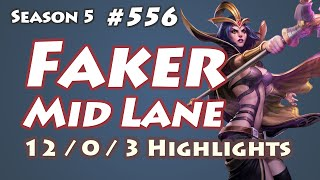 SKT T1 Faker - LeBlanc vs Kassadin - EUW LOL SoloQ Highlights