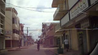 Drive through downtown Belize City on Columbus Day, 2014