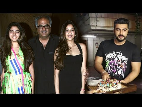 Arjun Kapoor's Birthday Party   Jhanvi Kapoor, Khushi Kapoor, Varun Dhawan, Boney Kapoor, Badshah