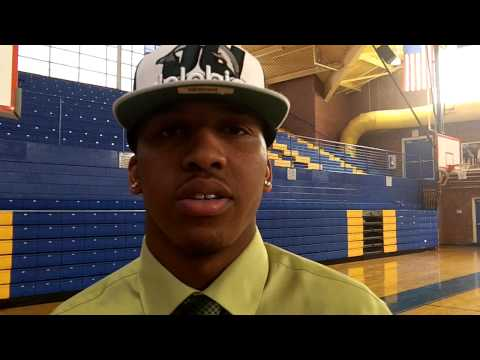 Sam Hunt from Dudley HIgh School on his signing day with Jacksonville Univesity
