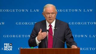 WATCH: Attorney General Jeff Sessions speaks on campus free speech at Georgetown Law