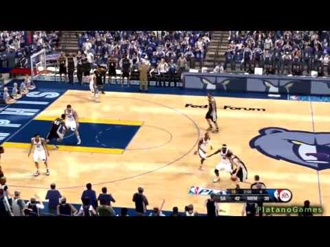 NBA Playoffs 2013 West Finals - Memphis Grizzlies vs San Antonio Spurs - 4th Qrt - NBA Live 13 - HD